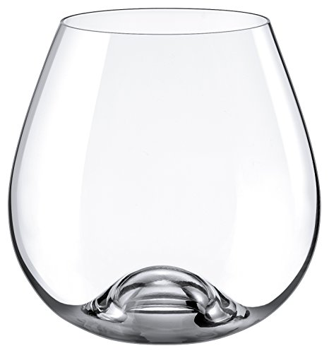 Rona Slovakia - Lead Free Crystal Bordeaux Stemmless Wine Glass, Set of 4 (Crystal Wine Glasses Stemless)