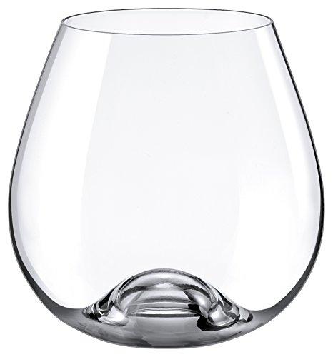 Lead Glass Crystal Wine (Rona Slovakia - Lead Free Crystal Bordeaux Stemmless Wine Glass, Set of 4)