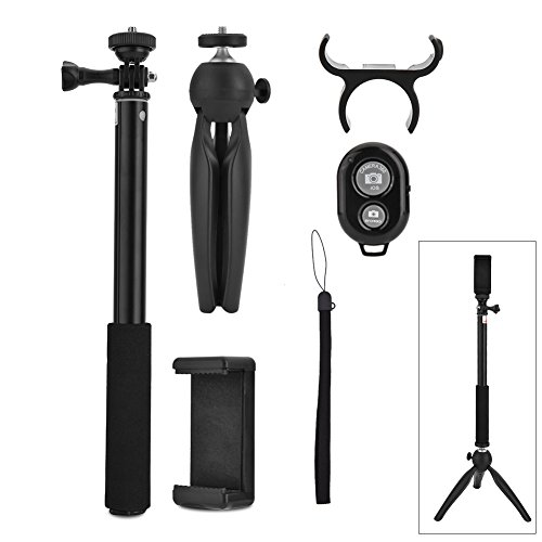 ZJchao Sefie Stick Trípode Estabilizador del teléfono Soporte para Smartphone Sports Camera y Gopro