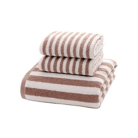 Zhenxinmei 3-Piece Cotton Towel Sets - Include 2 Face Towel & 1 Bath Towel - Japanese Style Zebra Striped Towels Eco-Friendly Fluffy Washcloth for Maximum Softness and Absorbency - Zebra Parts Screw