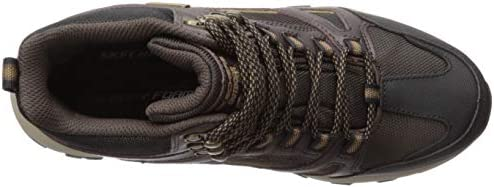 Skechers Men's SELMEN-REGRAM LACE UP Boot Hiking, Brown, 7 Medium US