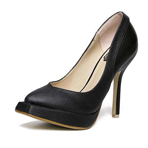 Shoes Scarpin 34 5cm Pump Black Pure Women Shoes Heels 39 Shoes 12 Shoes Simple Casual Eu Platform Color Dress Toe High Wedding Size Court Square nxPqtxwEBS