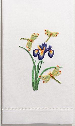 - Henry Handwork Iris & Dragonfly Hand Towel
