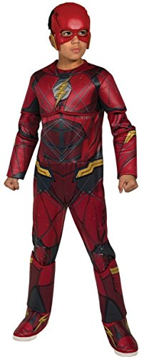 Rubie's Costume Boys Justice League Deluxe Flash Costume, Large, Multicolor -