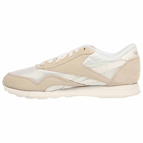 Gris Clair Classic Blanc Homme Sneakers Basses Nylon Reebok SvOna