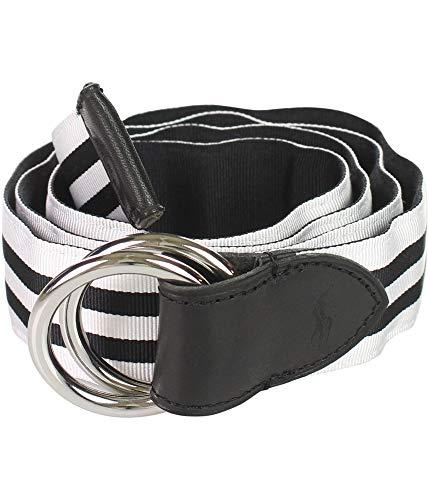 Ralph Lauren Reversible Belt - Polo Ralph Lauren Men's Reversible Leather Accented Fabric Belt (Black, X-Large)