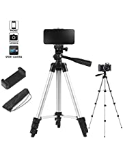 Tripod 40 Inch Portable Trip Light Weight Outdoor Travel Tripod + Universal Smartphone Holder Mount Support Stand for Phone 11 8/8plus,6/6s 7 Plus,XR Xs Max …