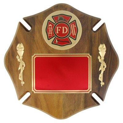 Customizable Fire Department Maltese Cross Plaque, includes Personalization