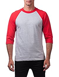 Mens 3/4 Sleeve Crew Neck Baseball Shirt