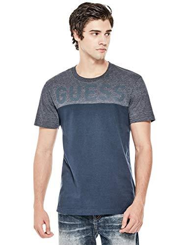 GUESS Factory Men's Rendo Logo Color-Block Tee - Designer Guess Clothing
