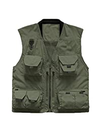 Vest Geography Photography Vest Male Multi-Pocket Outdoor Vest Fishing Waterproof Quick-Drying Vest ZHJING (Size : 3XL)
