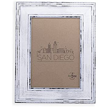 Amazon.com - 4x6 Picture Frame Distressed White - Mount Desktop ...