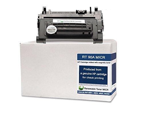 RT 90A CE390A Modified MICR Toner Cartridge for Check Printing on LaserJet Enterprise 600 M601 M602 M603 M4555 series printers (Micr Laser Check Printer)