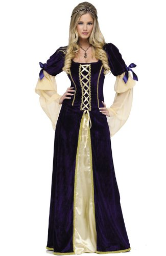 Fun World Women's Maiden Faire Costume, Multi, Large