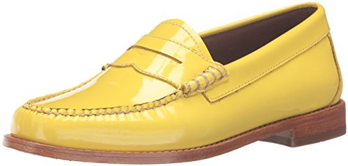 G.H. Bass & Co. Womens Whitney Penny Loafer Lemon T9NZAvHE3