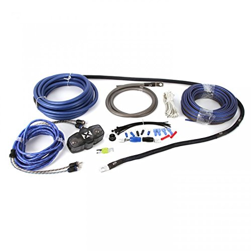(NVX 100% Copper 4-Gauge Car Amp Install Kit w/ 2-Channel RCA, Up to 1000 Watts RMS [XKIT42])