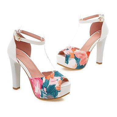 bleu Split YFF été amp; CN42 10 EU41 UK7 Club soirée Mariage femmes Gladiateur similicuir printemps boucle 8 US9 Talon robe chaussures 5 Sandales 5 ZqgZrwI6