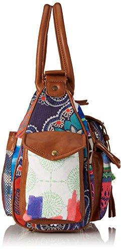 Desigual London Medium Happy Bazar 61X50J93041U Damen Schultertaschen 32x25x12 cm (B x H x T) Rot (Borgoña Claro 3041)