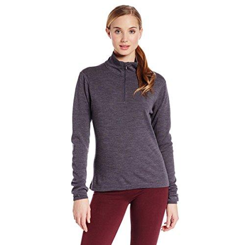 1/4 Zip Thermal (Minus33 Merino Wool Women's Sequoia Midweight 1/4 Zip, Charcoal, Medium)