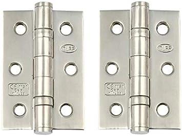 City Deco Centre Door Hinge 3 76mm Ball Bearing Butt Hinges Chrome /& Satin Chrome Internal Doors 1 Pair 3 Hinge, Satin Stainless Steel