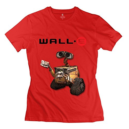 Funny Wall E Robot Women's Tee Red ()
