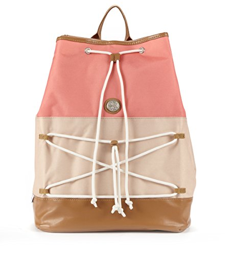 fivesse-water-resistant-beach-backpack-coral-color-block-custom-designed-protective-pockets