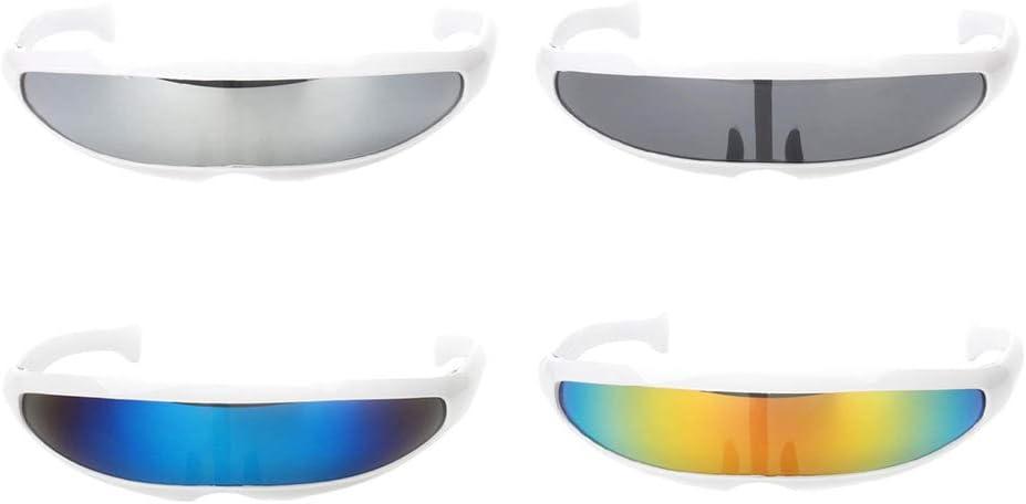 Sharplace 4X Gafas de Sol Futurista Estrecho Cyclops Color Espejo ...