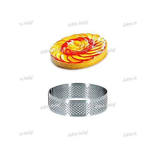 Deco-Relief Stainless Steel Rolled Edge Tart Ring 24cm x 2cm
