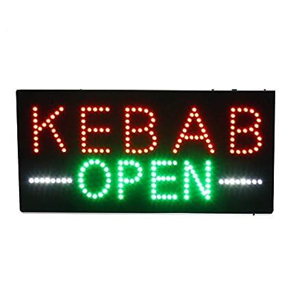Placa de anuncios de alta calidad con luz LED Kebab, para ...
