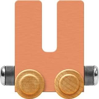 product image for Maple Landmark NameTrain Pastel Letter Car U - Made in USA (Orange)
