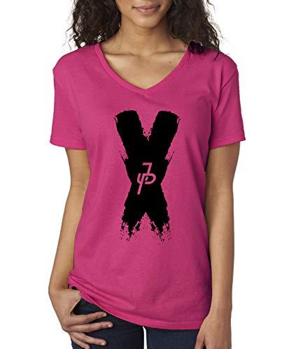 69abd496161e Trendy USA 821 - Women's V-Neck T-Shirt Jake Paul X Team 10