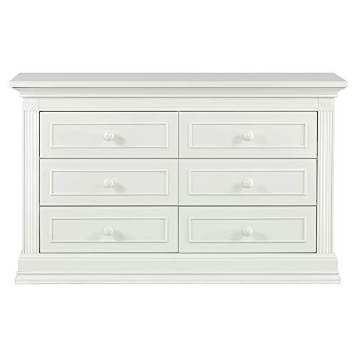 Montana Collection Natural Hardwood 6 Drawer Dresser | Lasting Quality & Design | Kiln-dried & Hand-Crafted Construction | 56