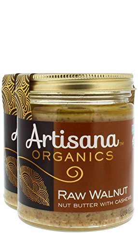 Artisana Organics - Walnut Butter with Cashews, Two Ingredients Handmade Rich and Thick Spread, USDA Organic Certified and Non-GMO (2-Pack, 8 oz)