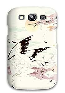 DanRobertse Premium Protective Hard Case For Galaxy S3- Nice Design - Animal Barefoot Bicolobutterfly Cherry Blossoms Japanese Kimono Petals Ribbons Shishunkiatanuki Kimihiro Xxxholic