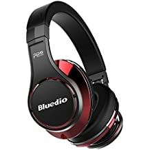 Bluedio U (UFO) PPS 8 Drivers Over-ear Bluetooth Wireless Headphone with Mic (Black and Red)
