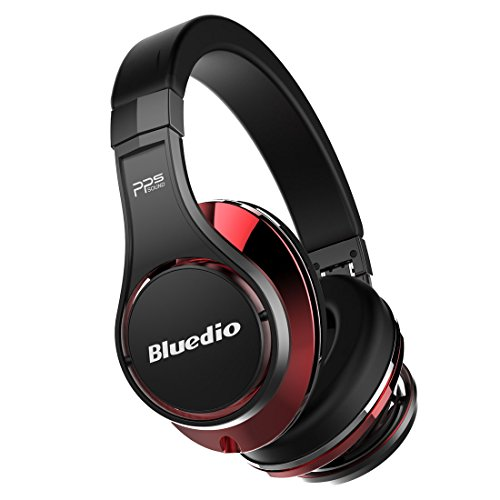 Price comparison product image Bluedio U (UFO) Premium PPS 8 Drivers Bluetooth Wireless Headphone with Mic (Black and Red)