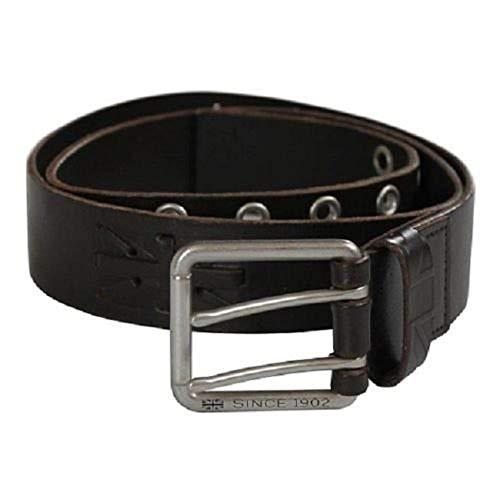 Triumph Motorcycles Union Flag Leather Belt (28-32, Dark ()