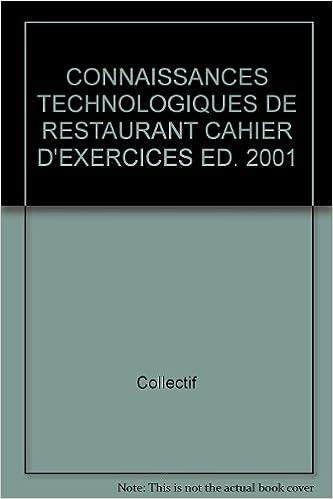 En ligne téléchargement Cahier d'exercices en restaurant. CAP-BEP pdf