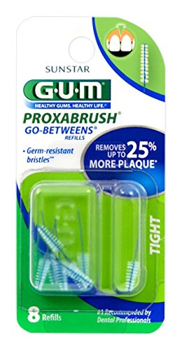 Sunstar 414B GUM Proxabrush Go-Betweens Tight Refill, Nylon Triangular Shaped Bristle
