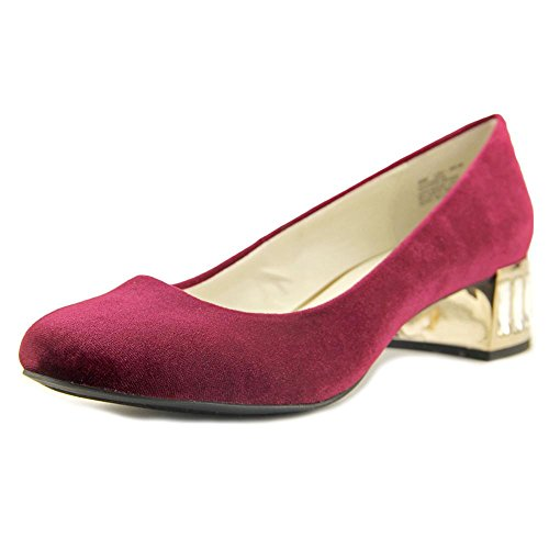 Anne Klein Women's Haedyn Fabric Dress Closed Toe Classic Pump Shoes Choose Sz Color Wine Fabric Size 6.5 M US
