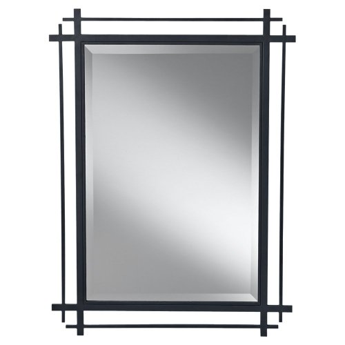 Feiss MR1107AF Ethan Asian Mission Style Wall Mirror, 27