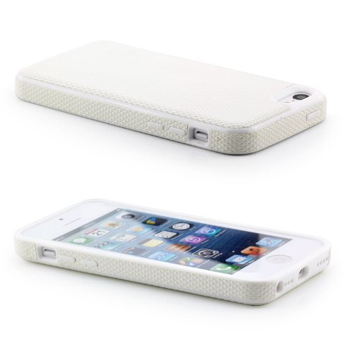 Saxonia. Ball Style Back Cover étui housse case pour Apple iPhone 5 C Etui Housse Coque bumper Blanc
