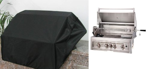 SUNSTONE G-COVER4B Weather Proof Grill Cover for 4 Burners, 34-Inch