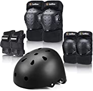Ledivo Gear Set Adult/Youth/Child Knee Pads Elbow Pads Wrist Guards for Multi Sports Skateboarding Inline Roll