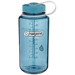 Nalgene Tritan Wide Mouth BPA-Free Water Bottle, Cadet W/ Cadet Cap, 32oz
