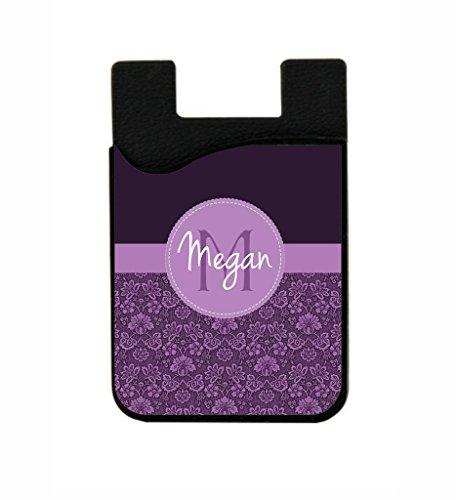 Purple Damask Pattern Jacks Outlet CUSTOM Black Silicon Card Phone ()