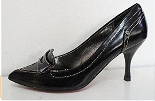 Noir Chaussures Pointu nbsp; Jais De Coutures Cour Bout pxpHrz
