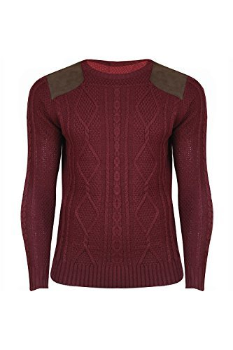 Oops Outlet - Jerséi - para hombre Wine - Medium Knit Sweatshirt Celeb Inspired: Amazon.es: Ropa y accesorios