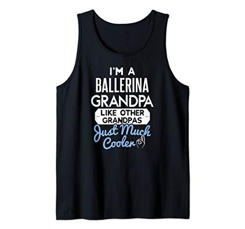 Mens Cool Ballerina Grandpa Fathers Day Gift Tank Top