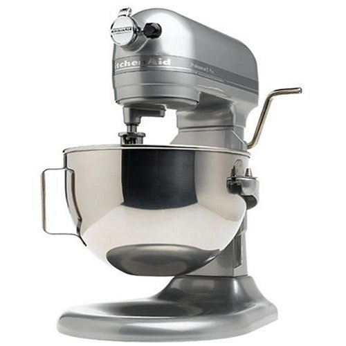 KitchenAid RKV25GOXMC Professional 5-Quart Bowl Lift Stand Mixer, Metallic Chrome (Renewed) (Kitchenaid Mixer Covers 5 Quart)